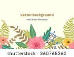 flowers. vector background