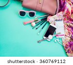 fashionable female accessories... | Shutterstock . vector #360769112