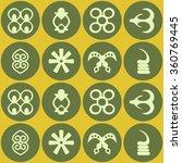 seamless pattern with adinkra... | Shutterstock .eps vector #360769445