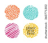 color textured round elements... | Shutterstock .eps vector #360771302