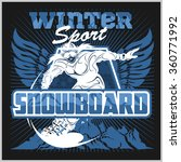 snowboarder at jump in... | Shutterstock .eps vector #360771992