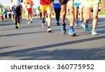 unidentified marathon athletes... | Shutterstock . vector #360775952