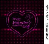 happy valentines day pink... | Shutterstock .eps vector #360777632
