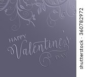 decorative floral valentine's... | Shutterstock .eps vector #360782972