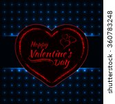 happy valentines day azure... | Shutterstock .eps vector #360783248