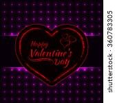 happy valentines day magenta... | Shutterstock .eps vector #360783305