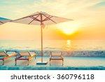 beautiful luxury hotel swimming ...   Shutterstock . vector #360796118