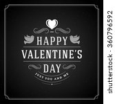 valentine's day greeting card... | Shutterstock .eps vector #360796592