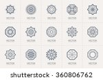 geometric logo template set.... | Shutterstock .eps vector #360806762