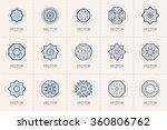 geometric logo template set....