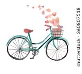 bike with pink heart  | Shutterstock . vector #360807518