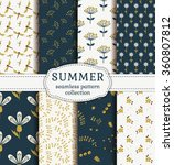 summer seamless patterns with... | Shutterstock .eps vector #360807812