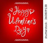 happy valentines day vintage... | Shutterstock .eps vector #360809138