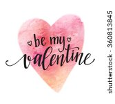 watercolor valentines day card... | Shutterstock .eps vector #360813845
