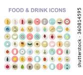 food   drink icon set. vector... | Shutterstock .eps vector #360814595
