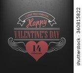 typography postcard happy... | Shutterstock .eps vector #360815822