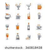 drinks icons    graphite series   Shutterstock .eps vector #360818438