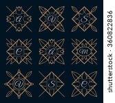 set of monogram logo template... | Shutterstock .eps vector #360822836