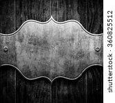 silver metal luxury plaque on... | Shutterstock . vector #360825512