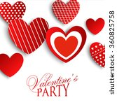 valentine's party invitation  | Shutterstock .eps vector #360825758