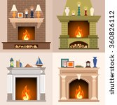 a set of four different... | Shutterstock .eps vector #360826112