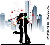 valentine's background. all... | Shutterstock .eps vector #36082642