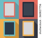 tablet ipad icons set in the... | Shutterstock .eps vector #360827756