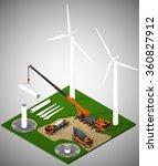 vector isometric illustration... | Shutterstock .eps vector #360827912