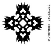 tribal tattoo design  vector... | Shutterstock .eps vector #360831212