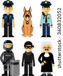 set of police and law officer... | Shutterstock .eps vector #360832052