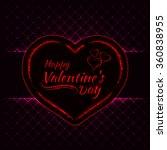 happy valentines day pink... | Shutterstock .eps vector #360838955