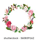 floral wreath with apple or... | Shutterstock . vector #360839162