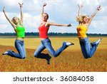 beautiful athletic woman... | Shutterstock . vector #36084058
