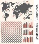 vector set ring diagrams  world ...   Shutterstock .eps vector #360840926