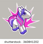 cartoon pony. vector... | Shutterstock .eps vector #360841202