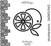 web line icon. orange | Shutterstock .eps vector #360851942
