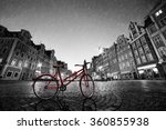 Vintage Red Bike On Cobbleston...