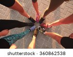 legs of athletes wearing sports ... | Shutterstock . vector #360862538
