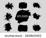 set of grunge shapes. banners.... | Shutterstock . vector #360863402