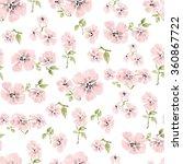 watercolor pink flowers... | Shutterstock .eps vector #360867722