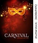 carnival poster template. mardi ... | Shutterstock .eps vector #360869492