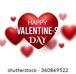valentine's heart. greeting... | Shutterstock .eps vector #360869522