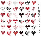 large collection of hearts ... | Shutterstock .eps vector #360872816