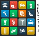 car icons set.  | Shutterstock .eps vector #360875318