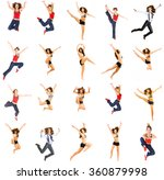 one girl team one model jumping ... | Shutterstock . vector #360879998