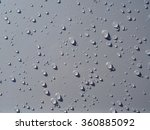 Many Of Raindrops Stuck On The...
