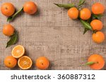 Fresh Clementines On Wooden...