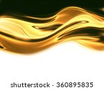 wave of liquid gold on white... | Shutterstock . vector #360895835