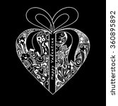 gift box with hearts on... | Shutterstock .eps vector #360895892