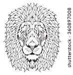 lion head zentangle stylized ... | Shutterstock .eps vector #360897008